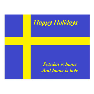 Sweden home is love  postcards