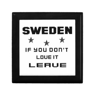 Sweden If you don't love it, Leave Jewelry Box