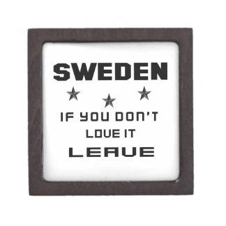 Sweden If you don't love it, Leave Keepsake Box