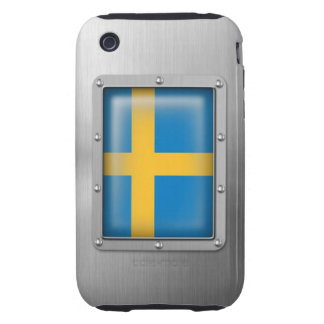 Sweden in Stainless Steel iPhone 3 Tough Cover