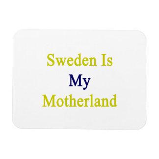 Sweden Is My Motherland Rectangular Photo Magnet