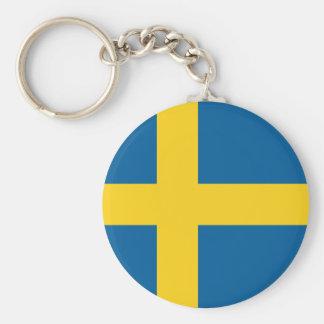 sweden basic round button keychain