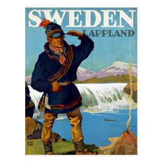 Sweden Lappland Postcard