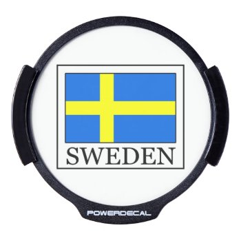 Sweden Led Window Decal by KellyMagovern at Zazzle
