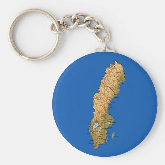 Sweden Map Keychain