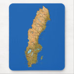 Sweden Map Mousepad