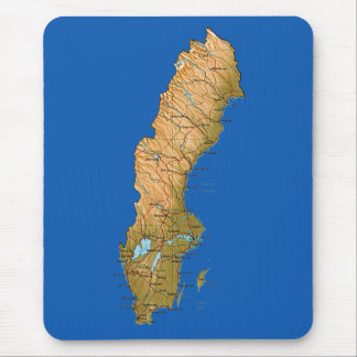 Sweden Map Mousepad