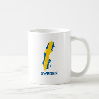 SWEDEN MAP CLASSIC WHITE COFFEE MUG