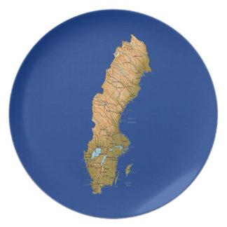 Sweden Map Plate