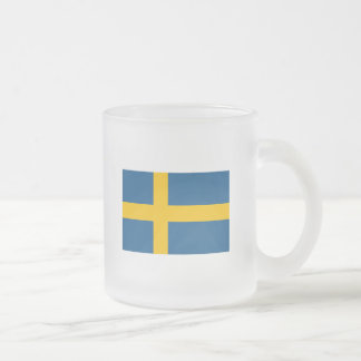 Sweden 10 Oz Frosted Glass Coffee Mug