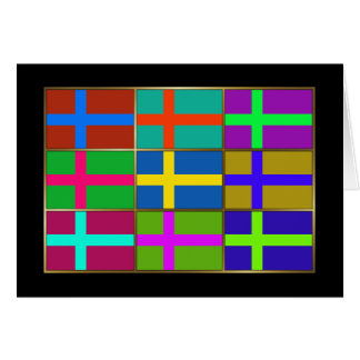 Sweden Multihue Flags Greeting Card