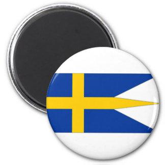 Sweden Naval Ensign 2 Inch Round Magnet