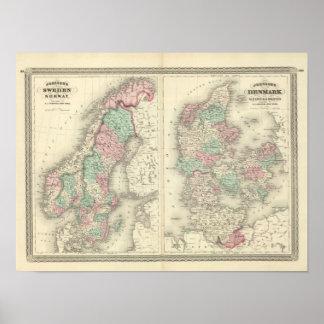 Sweden, Norway, and Denmark 2 Print