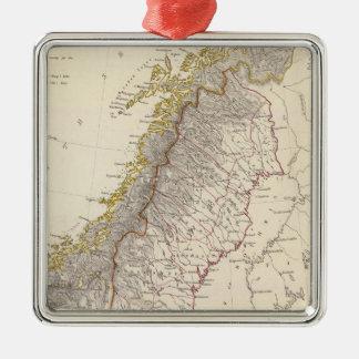 Sweden, Norway, Denmark 3 Metal Ornament