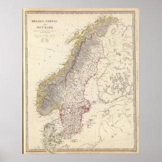 Sweden, Norway, Denmark 3 Poster