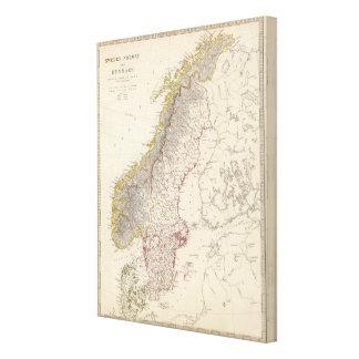 Sweden, Norway, Denmark Canvas Print