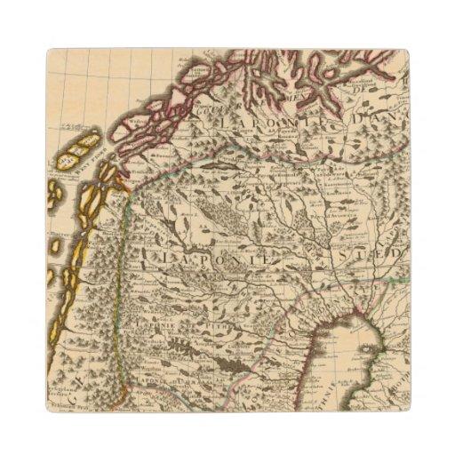 Sweden, Norway, Europe Maple Wood Coaster