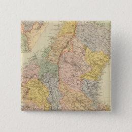 Sweden, Norway Pinback Button