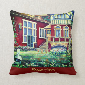 Sweden, Picturesque Falun Red Landscape. Throw Pillow