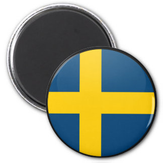 Sweden quality Flag Circle 2 Inch Round Magnet