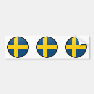 Sweden quality Flag Circle Bumper Sticker