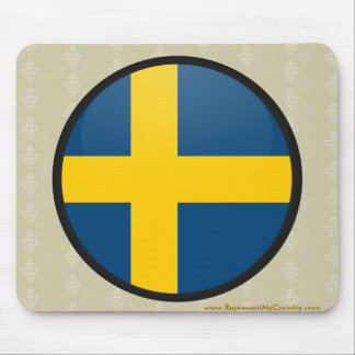 Sweden quality Flag Circle Mouse Pad