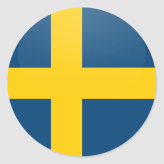 Sweden quality Flag Circle Stickers