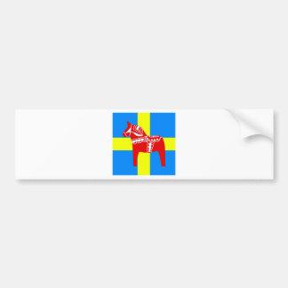 Sweden Red Dala Horse Bumper Sticker