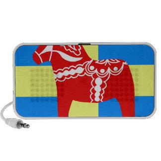 Sweden Red Dala Horse iPhone Speakers