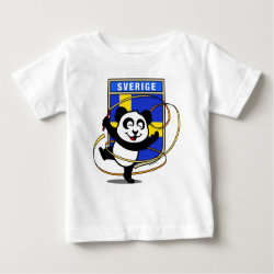 Baby Fine Jersey T-Shirt with Swedish Rhythmic Gymnastics Panda design