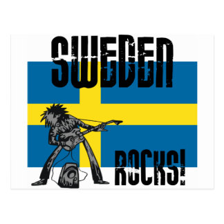 Sweden Rocks Postcard