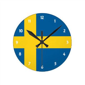 sweden round wallclocks