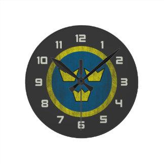 Sweden roundel round clock