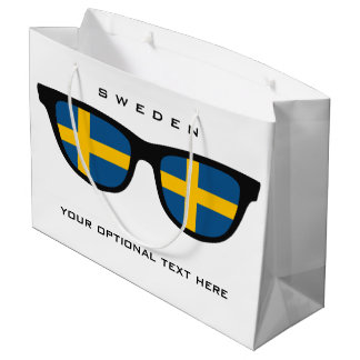 Sweden Shades custom text & color gift bag