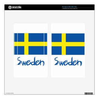 Sweden Kindle Fire Skin
