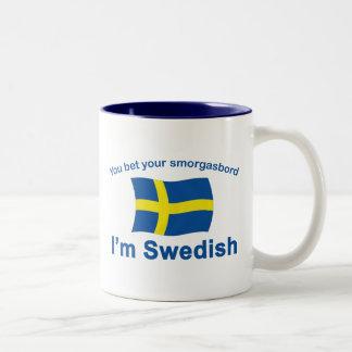 Sweden Smorgasbord 1 Two-Tone Coffee Mug