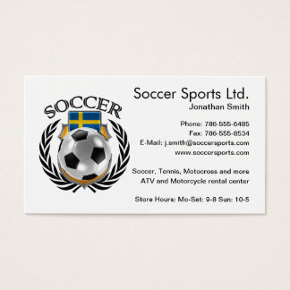 Sweden Soccer 2016 Fan Gear Business Card
