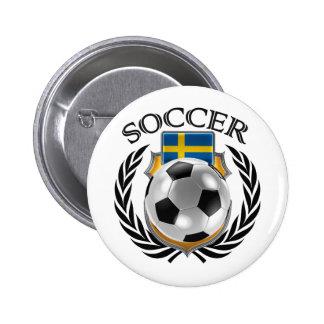 Sweden Soccer 2016 Fan Gear Button