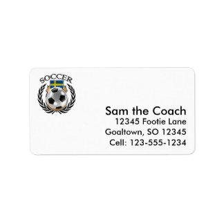 Sweden Soccer 2016 Fan Gear Label