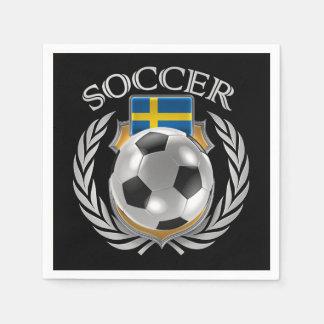 Sweden Soccer 2016 Fan Gear Paper Napkin