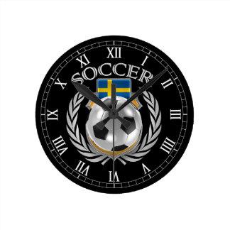 Sweden Soccer 2016 Fan Gear Round Clock