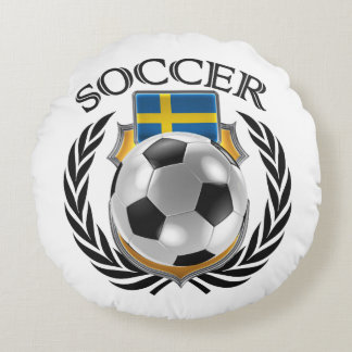 Sweden Soccer 2016 Fan Gear Round Pillow