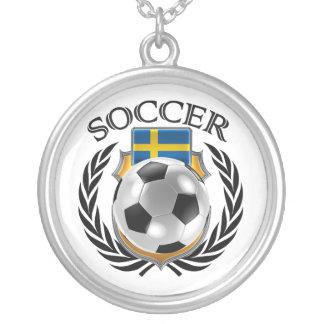 Sweden Soccer 2016 Fan Gear Silver Plated Necklace