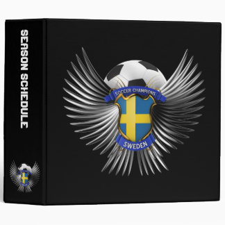 Sweden Soccer Champions 3 Ring Binders