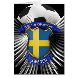 Sweden Soccer Champions Card