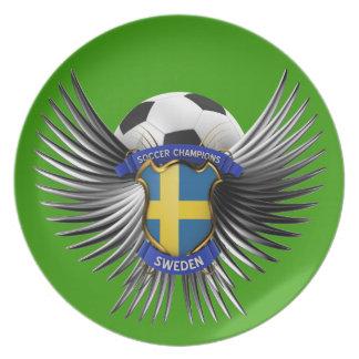 Sweden Soccer Champions Dinner Plates