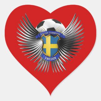 Sweden Soccer Champions Heart Sticker