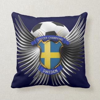 Sweden Soccer Champions Throw Pillows