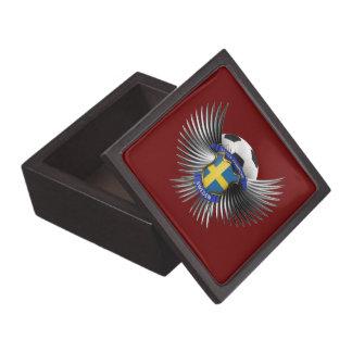 Sweden Soccer Champions Premium Jewelry Box