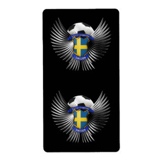 Sweden Soccer Champions Shipping Label